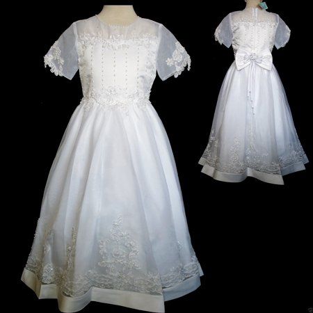 New Girl Wedding Bride maid Pageant 1st Holy Communion  Dress White 5 6 7 8 10 - French Maids Dresses
