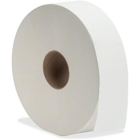 Jr Jumbo Roll Dispenser - Genuine Joe, GJO3520006, Jumbo Jr Dispenser Bath Tissue Roll, 6 / Carton, White