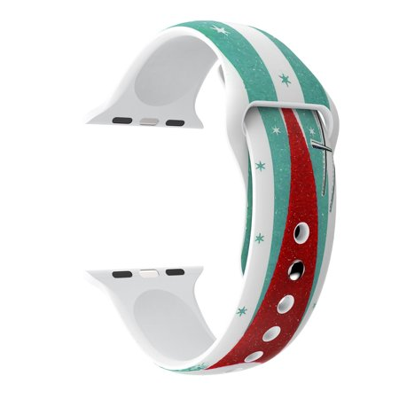 Sports Christmas Elderly Silicone Bracelet Strap Band For Apple Watch 2/3 42mm