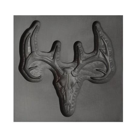 Kiln Casting Mold - Large Deer Skull 3D Graphite Ingot Mold 75 MM x 75 MM x 20 MM Metal Jewelry Casting Craft Tool - 3DMLD-0012