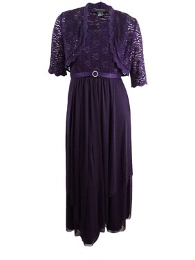 7262197355b Product Image R M Richards Women s Sequined Lace Belted Gown and Jacket  (14