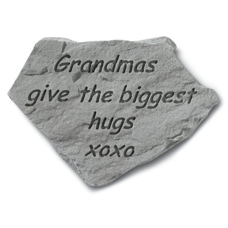 Grandmas Give The Biggest Hugs Garden Stone Grandmas Garden Stone