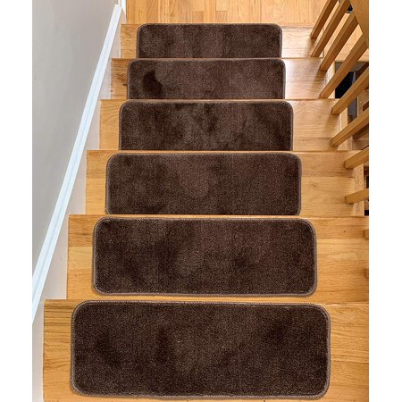 Antep Rugs Safe Steps Collection Non Slip Area Rug Stair Tread (7-pack, Beige, 9