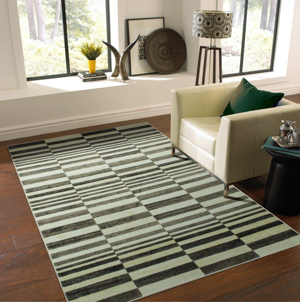 Mohawk Home Precision Printed Rug, Riley Charcoal, 5' x 7'
