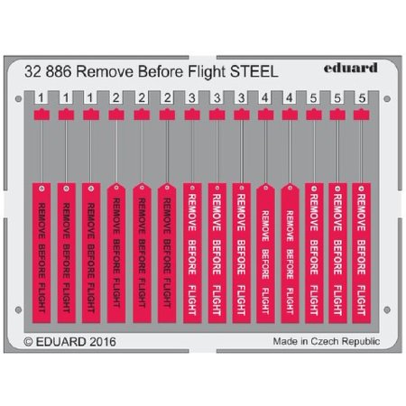 1/32 Aircraft- Remove Before Flight Steel (Painted)