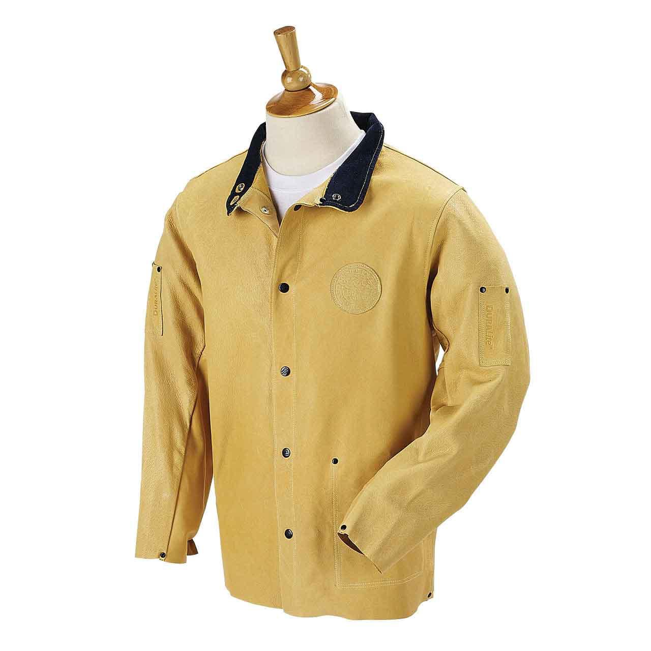 "DuraLite Premium Grain Pigskin Welding Coat - 30"", Size Large"
