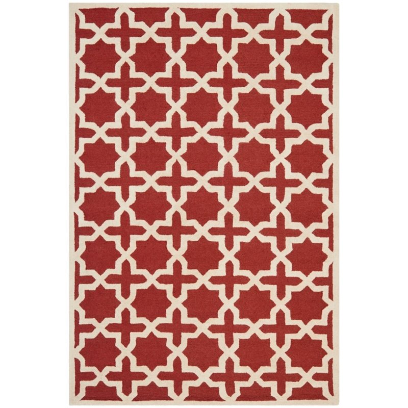 Safavieh Cambridge 3' X 5' Hand Tufted Wool Rug in Rust and Ivory - image 6 de 8