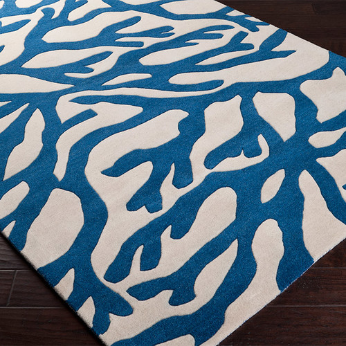 Surya Escape Cobalt/White Area Rug