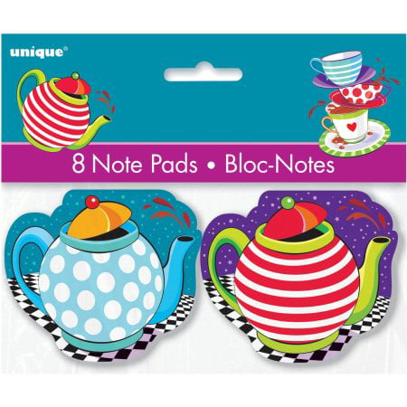 (3 Pack) Alice in Wonderland Tea Party Notepad Favors, 8ct](Wonderland Parties)