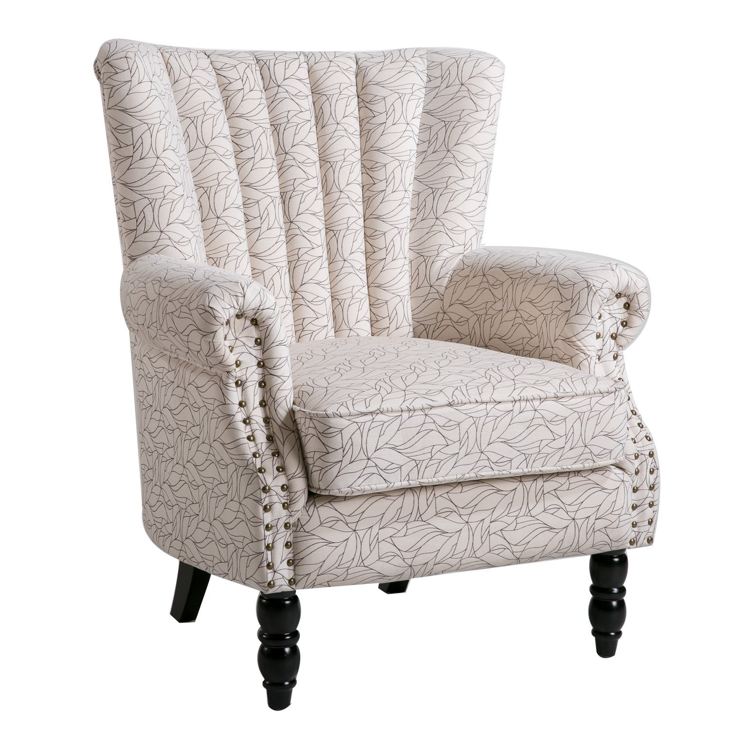 Harper&Bright Designs Rolled Arm Upholstered Accent Chair Armchair, Multiple Colors by Harper&Bright Designs