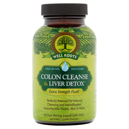 Well Roots Colon Cleanse & Liver Detox Liquid Softgels, 60
