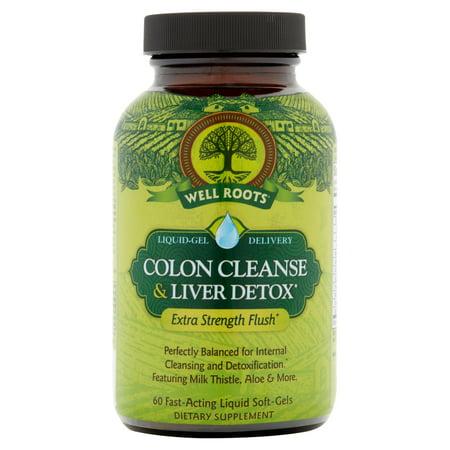 Well Roots Colon Cleanse & Liver Detox Liquid Softgels, 60