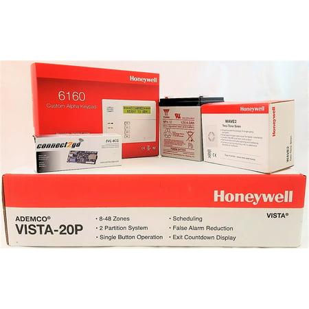 Self Monitoring Kit NO MONTHLY FEES- Vista 20p, 6160, EVL 4, Battery, Siren