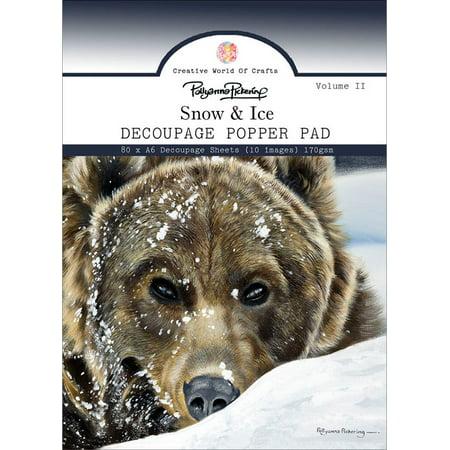 Creative World Of Crafts Decoupage Pad A6 80/Pkg-Snow & Ice, Vol 2-POL1034 - image 1 of 1