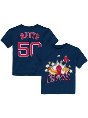 11f3a0537 Product Image Mookie Betts Boston Red Sox Majestic Toddler Snack Attack Name    Number T-Shirt -