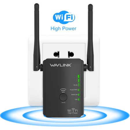Wireless 300n Range Extender - Wavlink N300 Universal WiFi Range Extender/ Access Point / Wireless Router Wi-Fi Signal Amplifier Booster With 2 High Gain External Antennas - Black