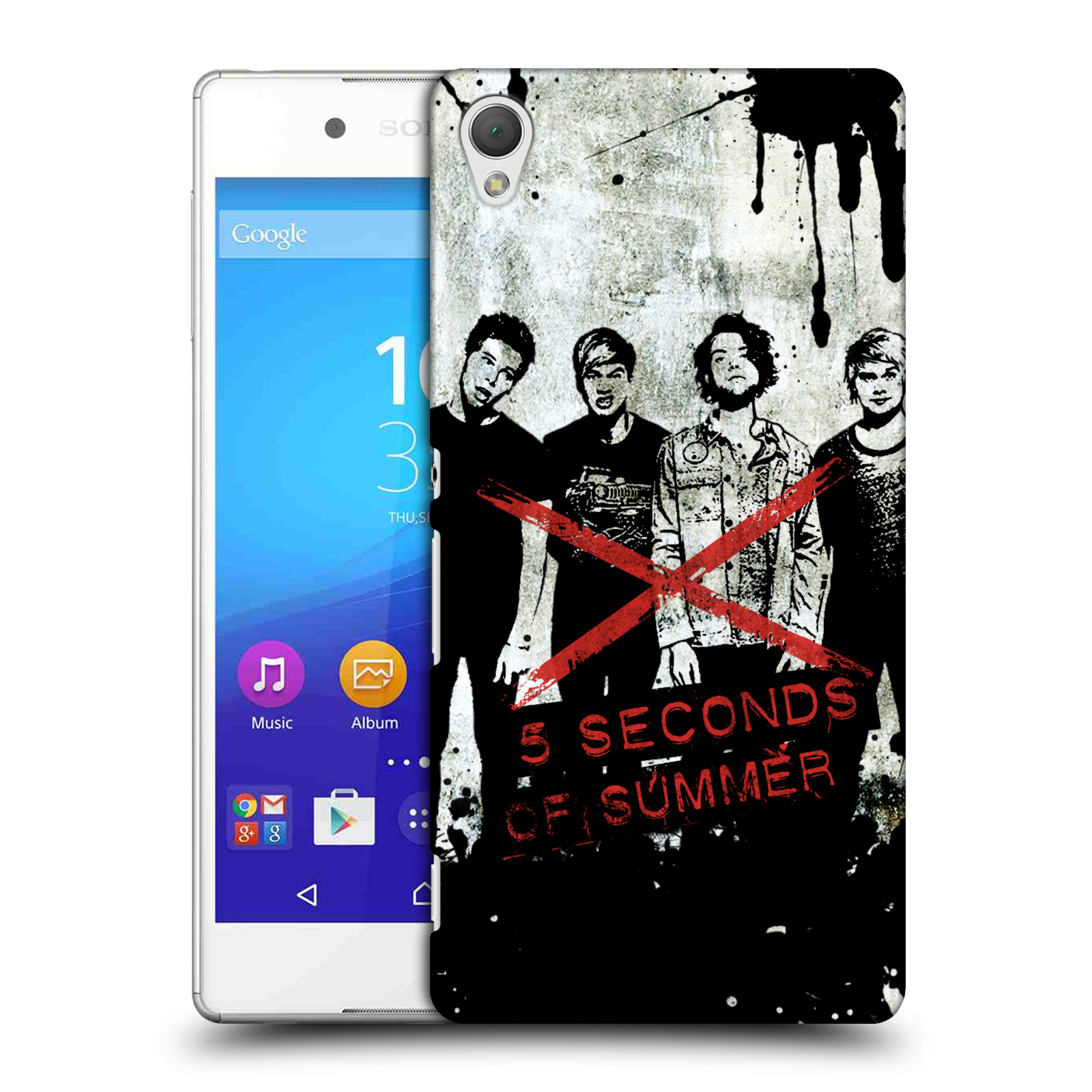 OFFICIAL 5 SECONDS OF SUMMER SPLATTER ART HARD BACK CASE FOR SONY PHONES 1