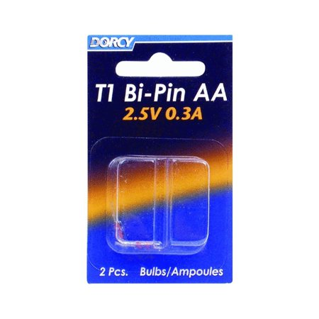 41-1672 AA - 2.4V 430 mA T-1 Bi Pin Replacement Bulb, 2-Pack, 200% More Light Output By (T1 Bi Pin)