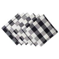 "DII Buffalo Check Kitchen Napkin Set, Set of 6, 20""x20"", 100% Cotton, Multiple Colors"