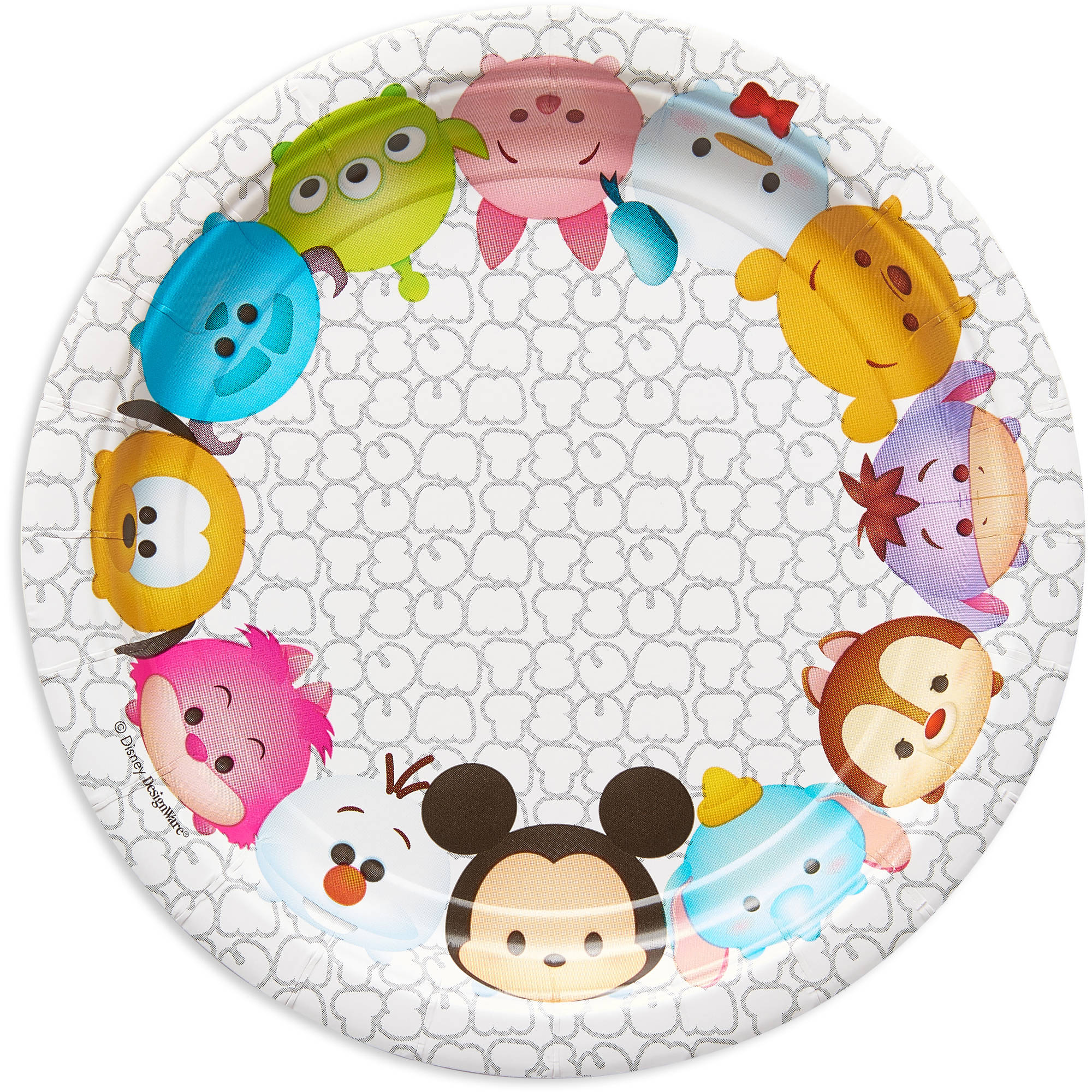 "7"" Tsum Tsum Round Paper Party Plate, 8ct"