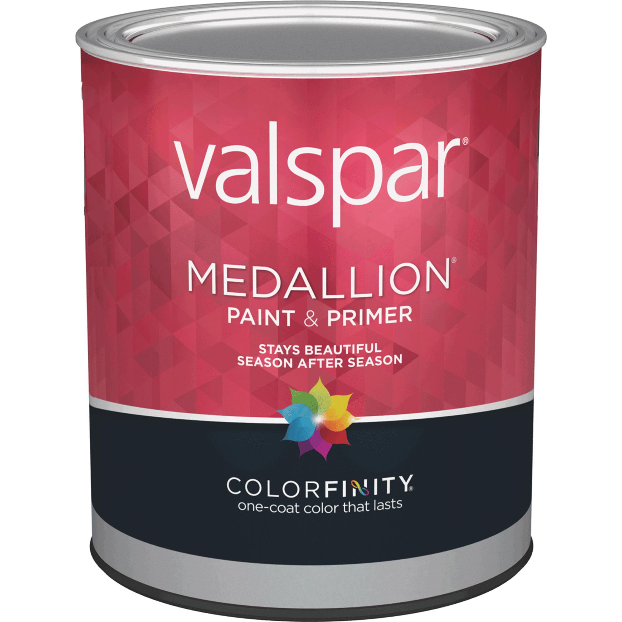 Valspar Medallion 100% Acrylic Paint & Primer Satin Exterior House ...