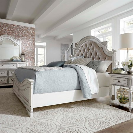 Magnolia Manor King Upholstered Bed (Paula Deen Bedroom Furniture Collection Steel Magnolia)