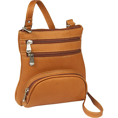 Le Donne Leather Vacquetta Front Pocket Cross Body Bag