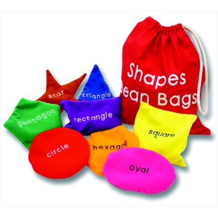 Educational Insights 082016 Washable Shapes Beanbags , Set Of 8