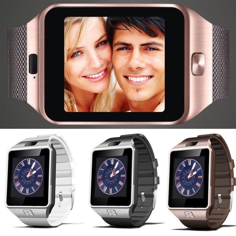 DZ09 Bluetooth Smart Wrist Watch GSM SIM Card Phone With Camera For Android IOS Smartphone-Gold