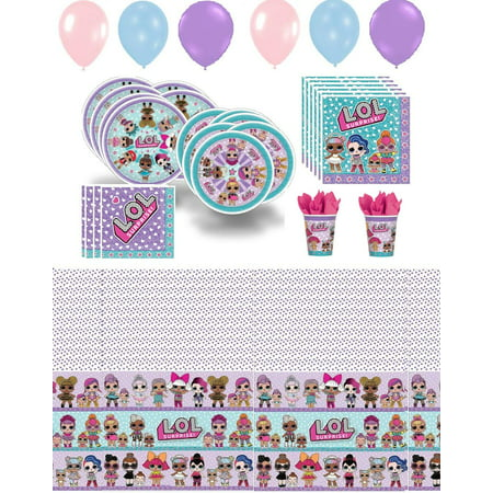 LOL Surprise Party Supplies Girls Pack Bundle (Packer Party Supplies)