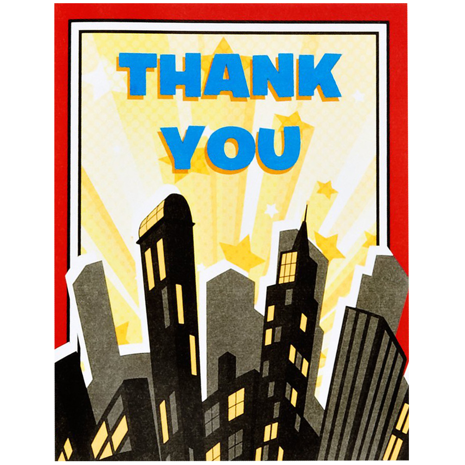 Superhero Comics Party Supplies 16 Pack Thank You Notes