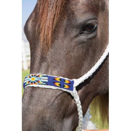 Professional`S Choice  Cowboy Braided and Beaded Halter with a 10 (Beading Halter Floor)