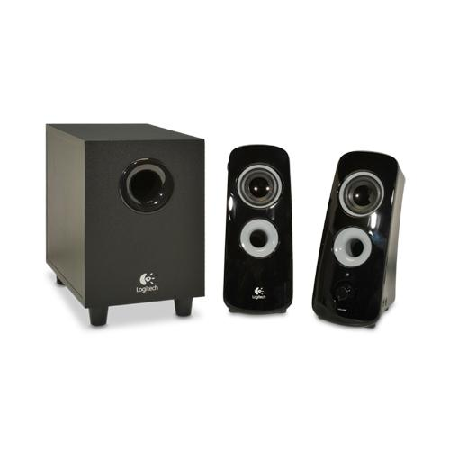 Logitech Z323 2.1 Speakers - 360-Degree Sound, Subwoofer, 30 Watts Total, Dual RCA and 3.5mm Audio Jacks  - 980-000354