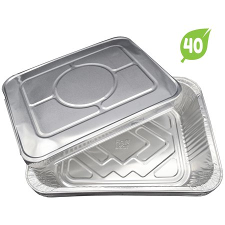 Fig And Leaf 40 Pack Disposable Aluminum Half Size Deep Chafing