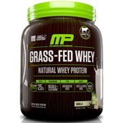 MusclePharm Grass-Fed Whey Protein Powder, Vanilla, 25g Protein, 0.93 Lb