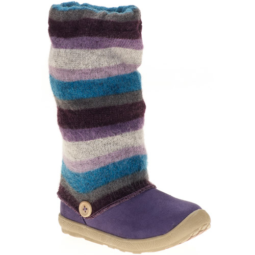 Natural Steps Toddler Girls' Gretchen Knit Stripe Boots