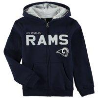 Los Angeles Rams Youth Fan Gear Stated Full-Zip Hoodie - Navy