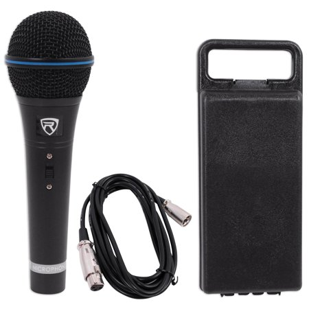Rockville RMM-XLR Dynamic Cardiod Professional Metal Microphone W/10