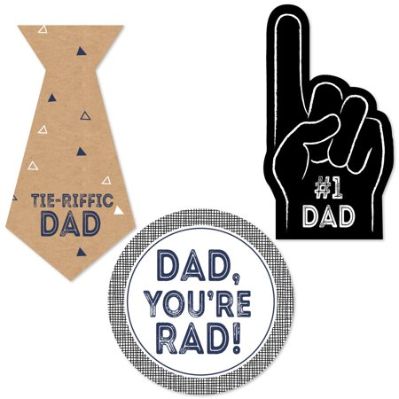 My Dad is Rad - Father's Day DIY Shaped Party Cut-Outs - 24 Count (Fathers Day Diy)