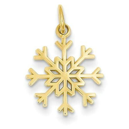 14k yellow gold snowflake pendant walmart 14k yellow gold snowflake pendant aloadofball Image collections