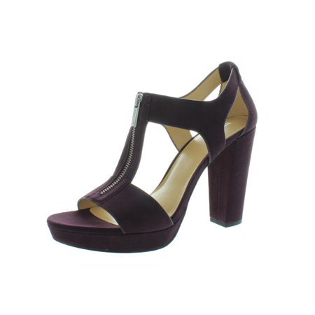 MICHAEL Michael Kors Womens Berkley Suede Dress Sandals Purple 7.5 Medium (B,M) Michael Kors Womens Dress Sandal