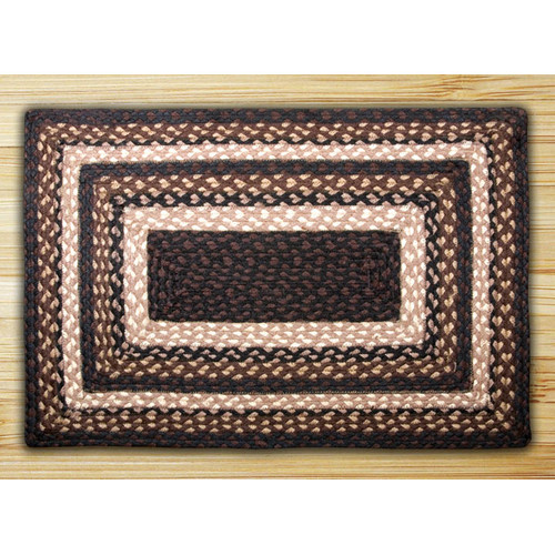 Earth Rugs Mocha/Frappuccino Braided Area Rug