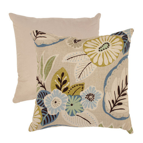 Pillow Perfect Tropical Cotton Throw Pillow