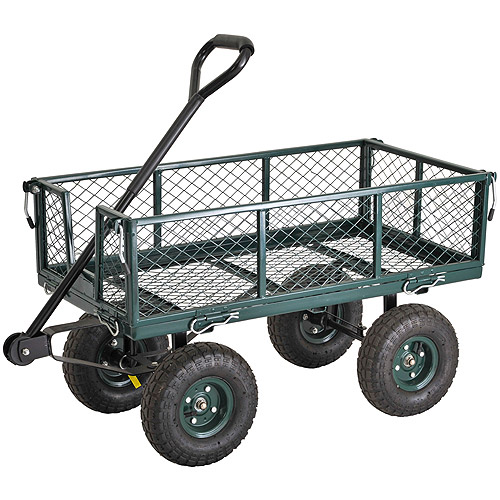 "Sandusky 34"" x 18"" Heavy-Duty Jumbo Crate Wagon, Green"