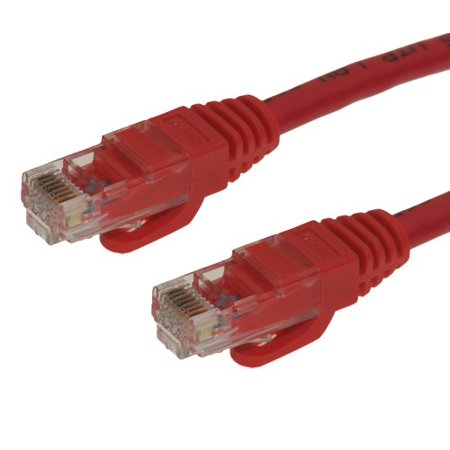 Cablemax 100ft Red Cat6 Snagless Rj45 Ethernet Patch Cable