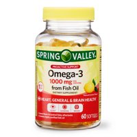 Spring Valley Omega-3 from Fish Oil, 1000 mg, 60 ct, Proactive Support