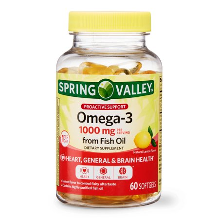Spring Valley Omega-3 from Fish Oil Softgels, 1000 Mg, 60