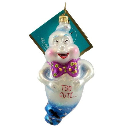 Christopher Radko 2 CUTE Blown Glass Ornament Halloween Ghost](Cute Halloween Ghost Sayings)
