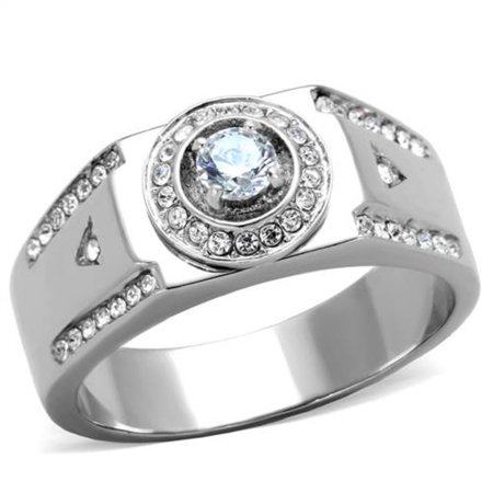 Stainless Steel Men S Cubic Zirconia Wedding Ring Size 8 Father