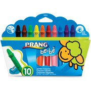 Prang be-be Jumbo Crayons, Assorted, 6 / Box (Quantity)